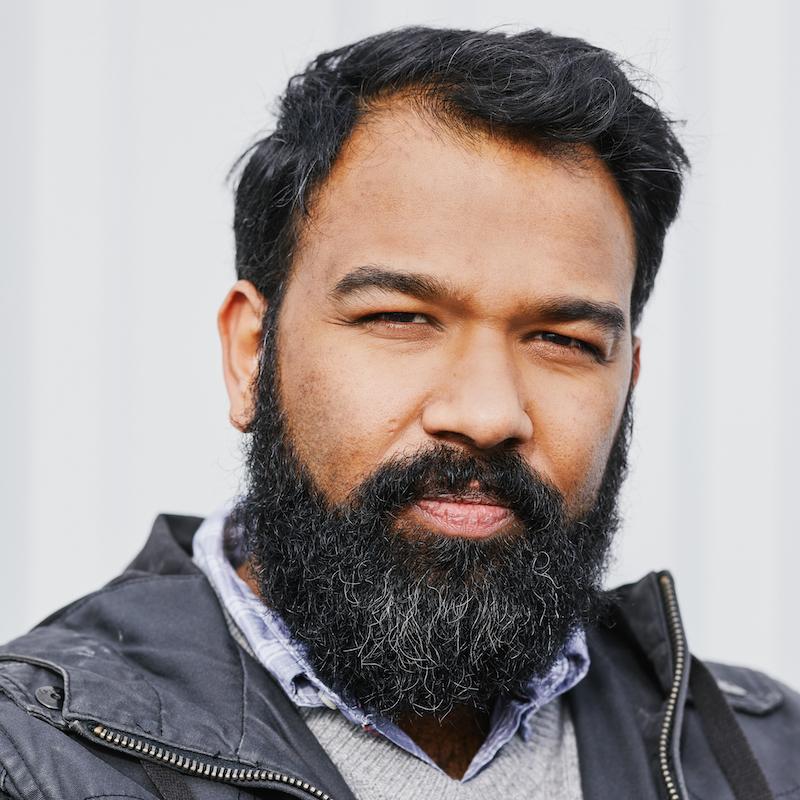 Vortrag Menschenrechte: Porträtfoto von Vortragsredner Stephan Anpalagan